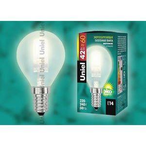 Лампа галогеновая 5219 E14 42Вт 230В  сферическая матовая