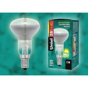 Лампа галогеновая 5224 E14 28Вт 230В  груша плоская с рефлектором