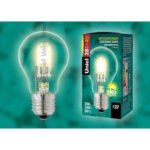 Лампа галогеновая HCL-28/CL/E27 pear 5225