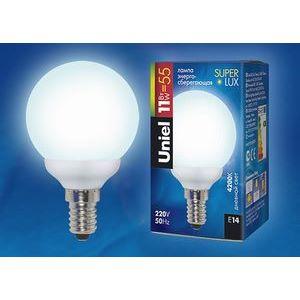 Лампа компактная люминесцентная 5256 E14 11Вт В 4000 K сферическая матовая
