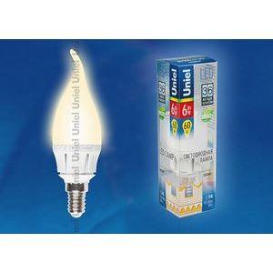 Лампа светодиодная 8137 E14 6Вт В 3000 K свеча на ветру матовая