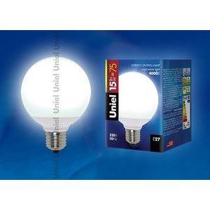 Лампа компактная люминесцентная 5505 E27 15Вт В 4000 K сферическая матовая