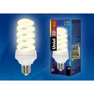Лампа компактная люминесцентная 84 E27 32Вт В 2700 K винтовая трубка