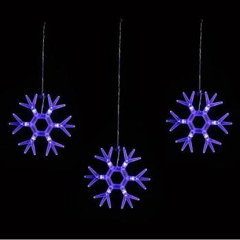 Гирлянда Супернить (1.5x0.3 м) ULD-E1503-036/DTA BLUE IP20 SNOWFLAKES-1