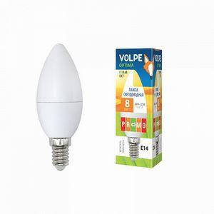 Лампа светодиодная UL-00001769 E14 8Вт 200-250В 3000 K свеча матовая