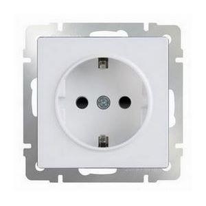 Розетка с заземлением без рамки Werkel Белый WL01-SKG-01-IP20