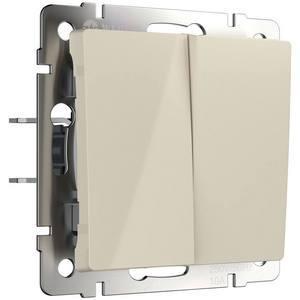 Выключатель проходной двухклавишный без рамки Werkel Слоновая кость WL03-SW-2G-2W-ivory