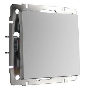 Выключатель одноклавишный без рамки Werkel Серебряный WL06-SW-1G