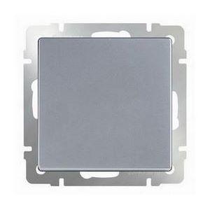 Выключатель проходной одноклавишный без рамки Werkel Серебряный WL06-SW-1G-2W