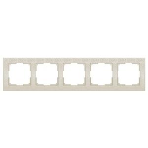 Рамка на 5 постов Werkel Flock WL05-Frame-05-ivory