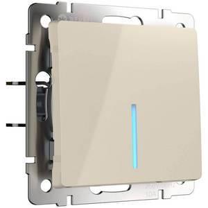 Выключатель проходной одноклавишный с подсветкой без рамки Werkel Слоновая кость WL03-SW-1G-2W - LED -ivory