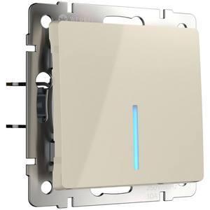 Выключатель одноклавишный с подсветкой без рамки Werkel Слоновая кость WL03-SW-1G - LED -ivory