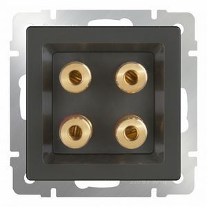 Розетка акустические без рамки Werkel Серо-коричневый WL07-AUDIOx4