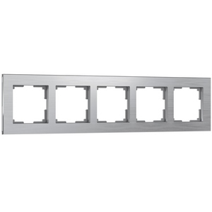 Рамка на 5 постов Werkel Aluminium WL11-Frame-05