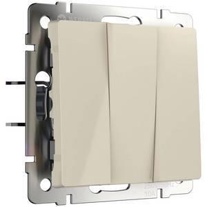 Выключатель трехклавишный без рамки Werkel Слоновая кость WL03-SW-3G-ivory