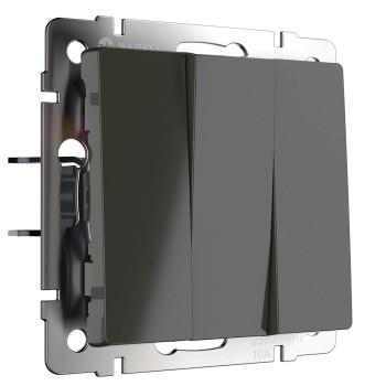 Выключатель трехклавишный без рамки Werkel Серо-коричневый WL07-SW-3G