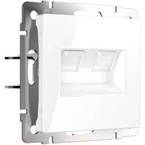 Розетка двойная Ethernet RJ-45 без рамки Werkel Белый WL01-RJ45+RJ4