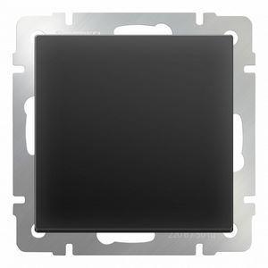 Выключатель перекрестной одноклавишный без рамки Werkel Черный матовый WL08-SW-1G-C