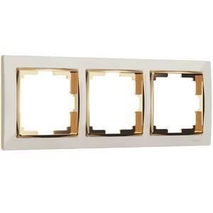 Рамка на 3 поста Werkel Snabb WL03-Frame-03-ivory-GD