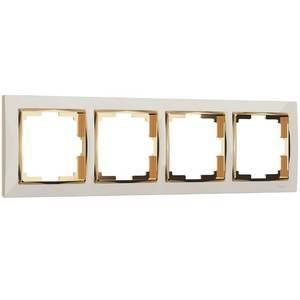 Рамка на 4 поста Werkel Snabb WL03-Frame-04-ivory-GD