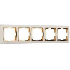 Рамка на 5 постов Werkel Snabb WL03-Frame-05-ivory-GD