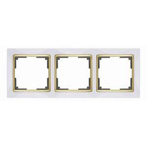 Рамка на 3 поста Werkel Snabb WL03-Frame-03 - белый-GD