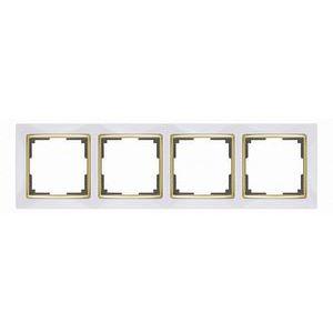 Рамка на 4 поста Werkel Snabb WL03-Frame-04 - белый-GD