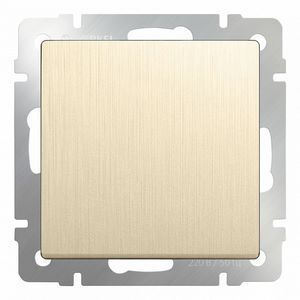 Выключатель проходной одноклавишный без рамки Werkel Шампань рифленый WL10-SW-1G-2W