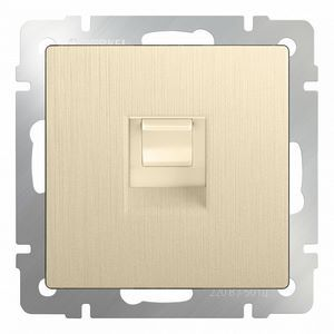 Розетка Ethernet RJ-45 без рамки Werkel Шампань рифленый WL10-RJ-45