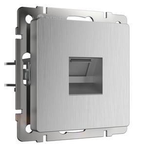 Розетка Ethernet RJ-45 без рамки Werkel Серебряный рифленый WL09-RJ-45