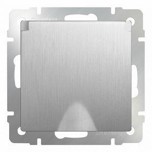Розетка влагозащищенна с заземлением с крышкой со шторками, без рамки Werkel Серебряный рифленый WL09-SKGSC-01-IP44