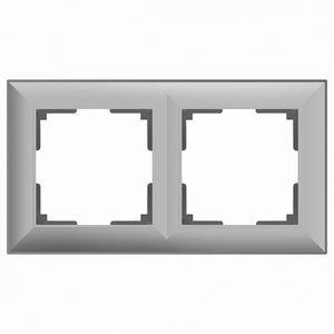 Рамка на 2 поста серая a038846