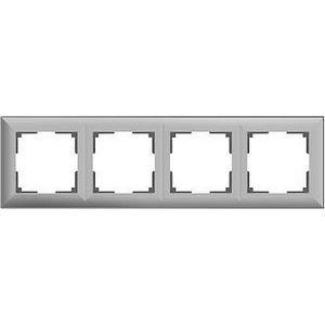 Рамка на 4 поста серая a038848