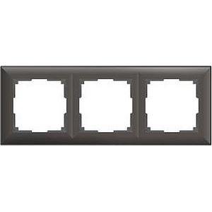 Рамка на 3 поста коричневая a038868