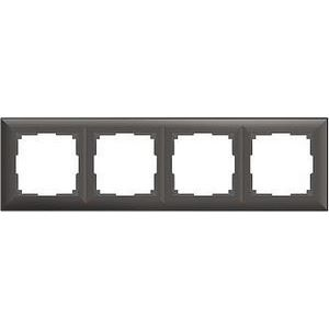 Рамка на 4 поста коричневая a038869
