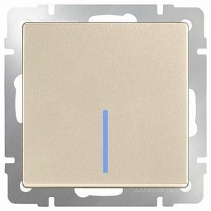 Выключатель проходной одноклавишный  с подсветкой без рамки [70x70x36] WL11 a040917