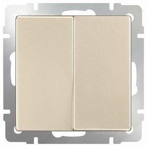 Выключатель двухклавишный без рамки [70x70x36] WL11 a040920