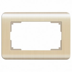 Рамка для двойной розетки Werkel Шампань рифленый WL12-Frame-01-DBL