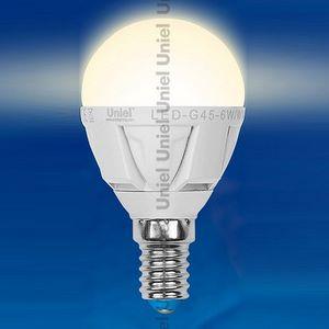 Лампа светодиодная E14 220В 6Вт 3000 K Optima LED-G45-6W/WW/E14/FR/O
