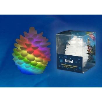 Ель световая (8 см) ULD-F004 RGB PINE CONE